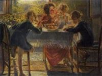 a colazione, 1924 by gaetano spinelli