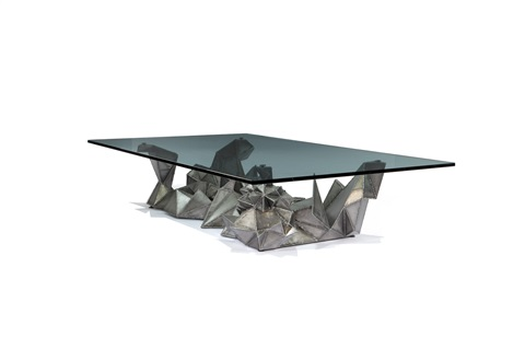 meteor coffee table by bruce gray