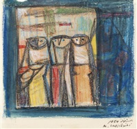 trois femmes by ismael al-sheikhly