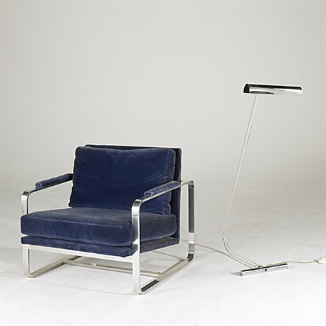 Lounge Chair (+ Floor Lamp, Lucite And Chromed Steel; 2 Works) By