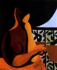 jeune femme à la fenêtre by andré fougeron