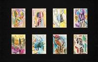 untitled (8 works) by wu dayu