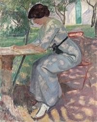 madame puy au jardin by jean puy