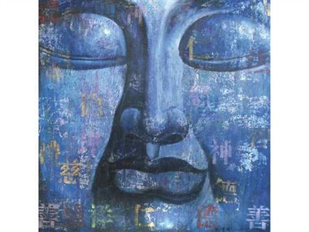 bouddha bleu n°13 by ma tse lin