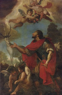 the vision of saint eustace by francesco conti