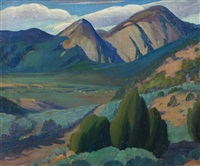 taos nocturne by walter alexander bailey
