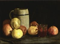 still life with apples by ben foster