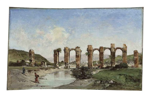the roman aqueduct cherchell algeria by victor pierre huguet