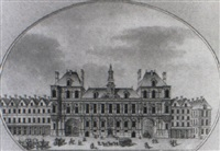 façade de l'hôtel de ville de paris by charles-michel campion