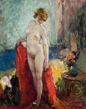 la femme au levé from série des nus by louis azema
