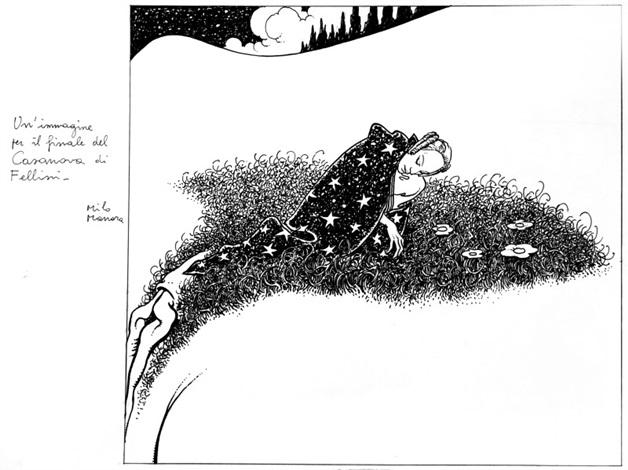 immagine per il finale del casanova di fellini by milo manara
