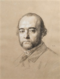 portrait de ferdinand barbedienne by thomas couture