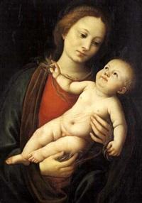 madonna con il bambino by bernardino lanino
