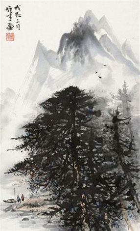 山水 landscape by li xiongcai