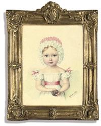 a child (grand duchess maria nikolaevna?) by fedor yakovlevich alekseev