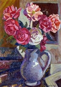 vase de fleurs by maurice savreux