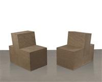 sandstone chair i & ii (in 2 parts) by scott burton