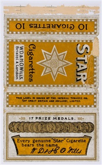 fag packets (capstan, star and ardath) (3 works) by peter blake