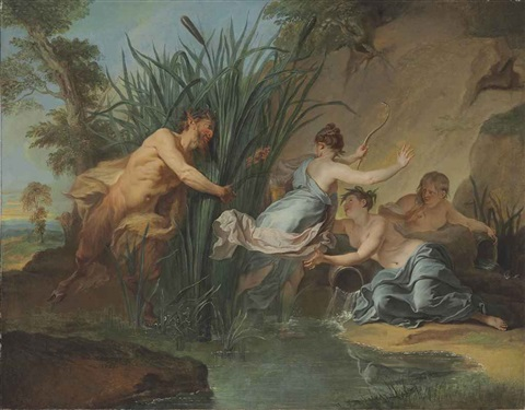 pan and syrinx by noël nicolas coypel