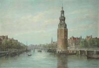 montelbaanstoren, amsterdam by jan van der linde