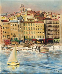 port de marseille by moïse kisling