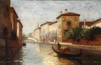 venice canal scene by frank knox morton rehn