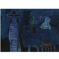 two women in an interior by jan roëde