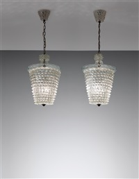 large lanterns (pair) by ercole barovier