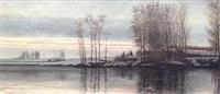 tramonto sul fiume by ottavio giovanni rapetti