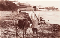 maroc. a waterseller of tangier. marchand d'eau avec son âne by james valentine