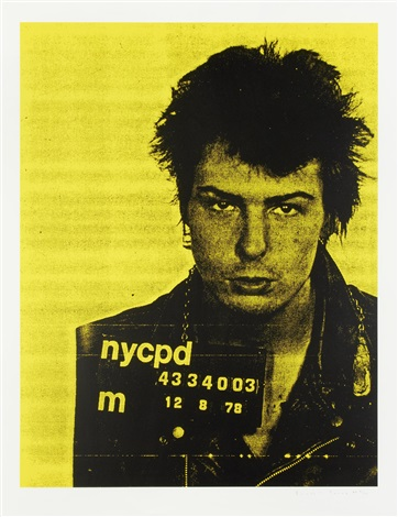 sid vicious (from mugshot series) by russell young