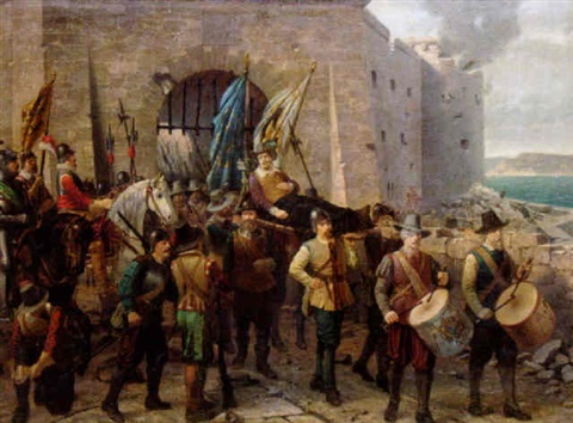historisk scen by thorvald rasmussen