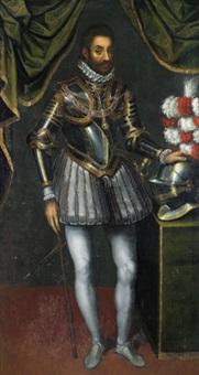 ritratto del duca emanuele filiberto di savoia: bildnis des herzogs emanuele filiberto von savoyen by giacomo (jacopo) d' argenta