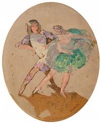 danseurs des ballets russes by jules léon flandrin