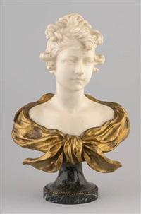 buste de jeune femme by alphonse henry nelson
