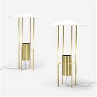 floor lamps (pair) by philip johnson and richard kelly