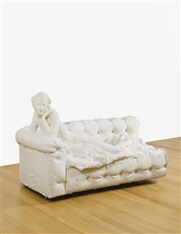 nude on couch (on her stomach) by george segal