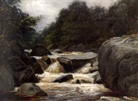 landscape with river by james docharty