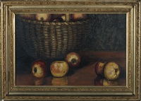splint baskets and apples by leonard lester