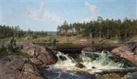 river landscape by alfred thörne