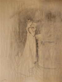 reflections (+ the rivals (study), verso) by sir william quiller orchardson