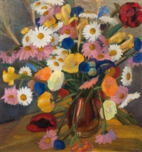 still life of flowers by wessel couzijn