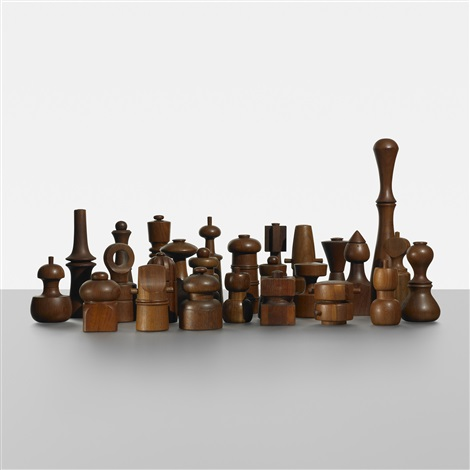 collection of twenty six peppermills by jens quistgaard