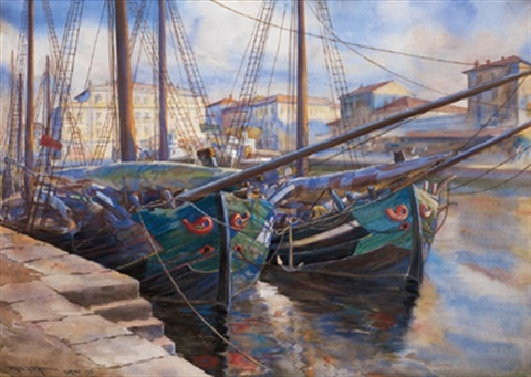 fischerboote in grado by franz blessinger