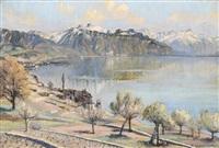 vue sur le lac à saint-saphorin by paul lepinard
