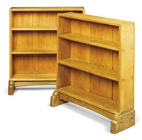 bookcases (pair) by cotswold school