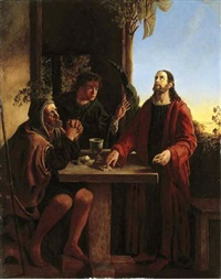 christ at emmaus by james smetham