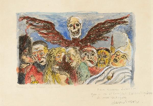 les péchés capitaux dominés par la mort from les péchés capitaux by james ensor