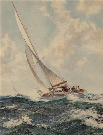 veleros y ocean racers pair by montague dawson