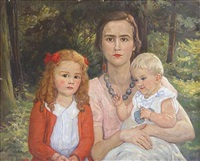 mutter mit zwei kindern by cornelia paczka wagner